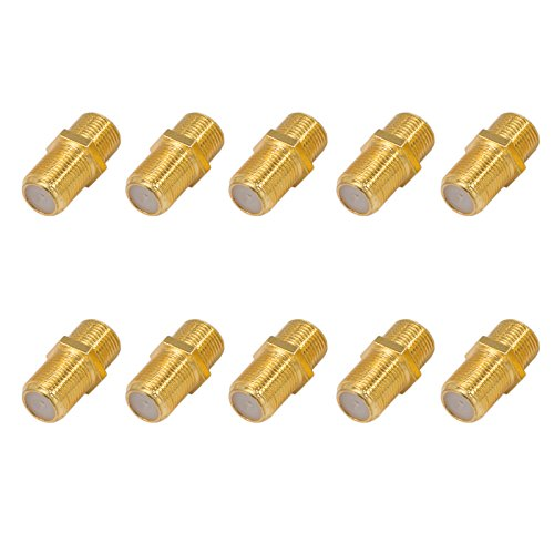 10x f verbinder buchse buchse vergoldet hq f r f stecker jeder gr e 4 8 2mm f r koaxial. Black Bedroom Furniture Sets. Home Design Ideas