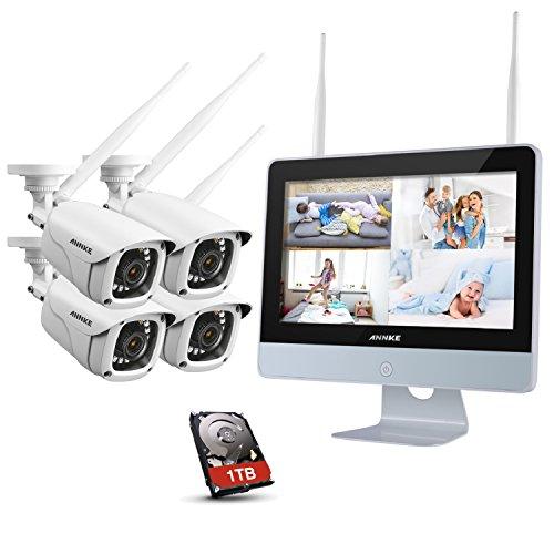 Annke überwachungskamera Set Mit Monitor 1080p 4ch 12 Zoll