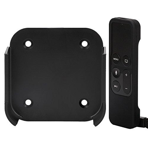 rukoy halterung wandhalterung kompatibel f r apple smart tv 4 4k mit siri remote schutzh lle. Black Bedroom Furniture Sets. Home Design Ideas